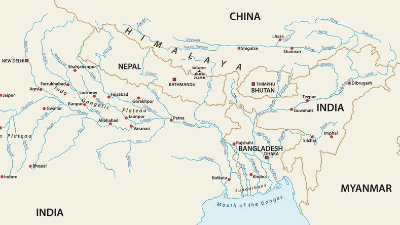 インドと中国の間