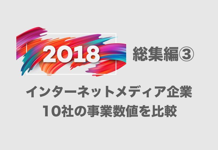 【2018年総集編③】 クックパッドからPR TIMESまで!国内Webメディア10社の事業数値を比較