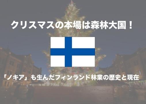 クリスマスの本場は「森林率」73%!「ノキア」も生んだフィンランド林業の歴史と現在