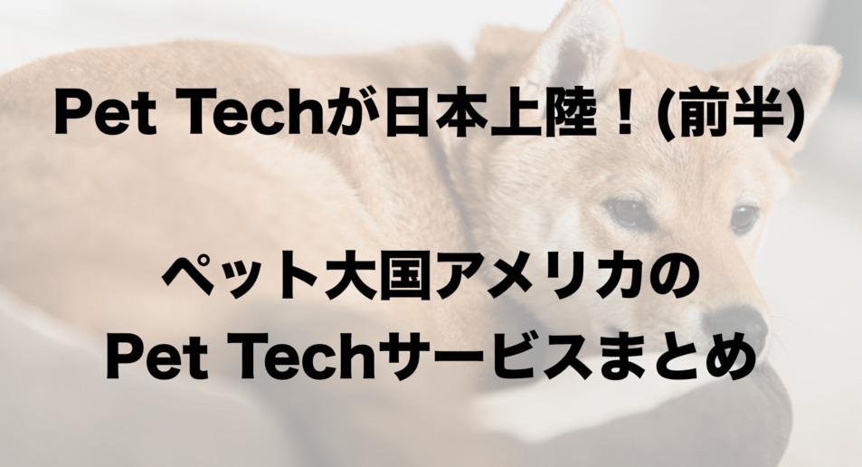 Pet Techで1.5兆円の市場を狙う!アメリカから日本に上陸しつつあるPet Techまとめ