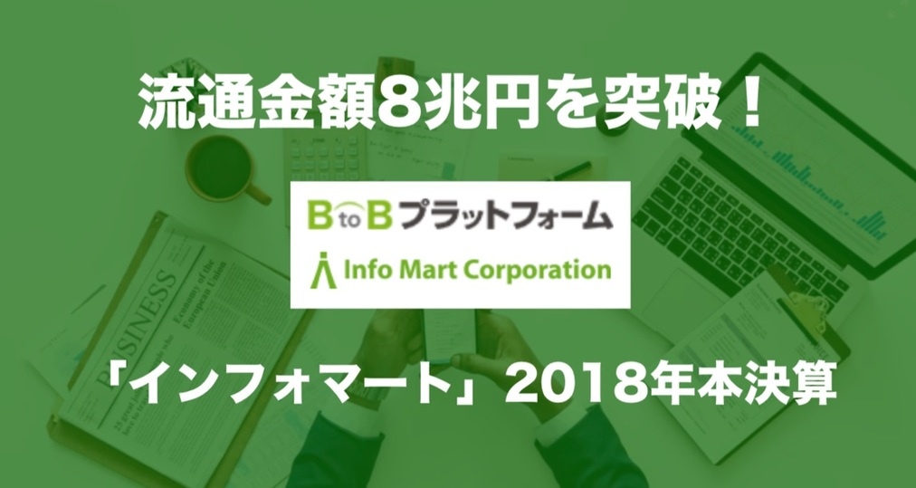 流通金額8兆円を突破!B to Bプラットフォーム「インフォマート」2018年本決算
