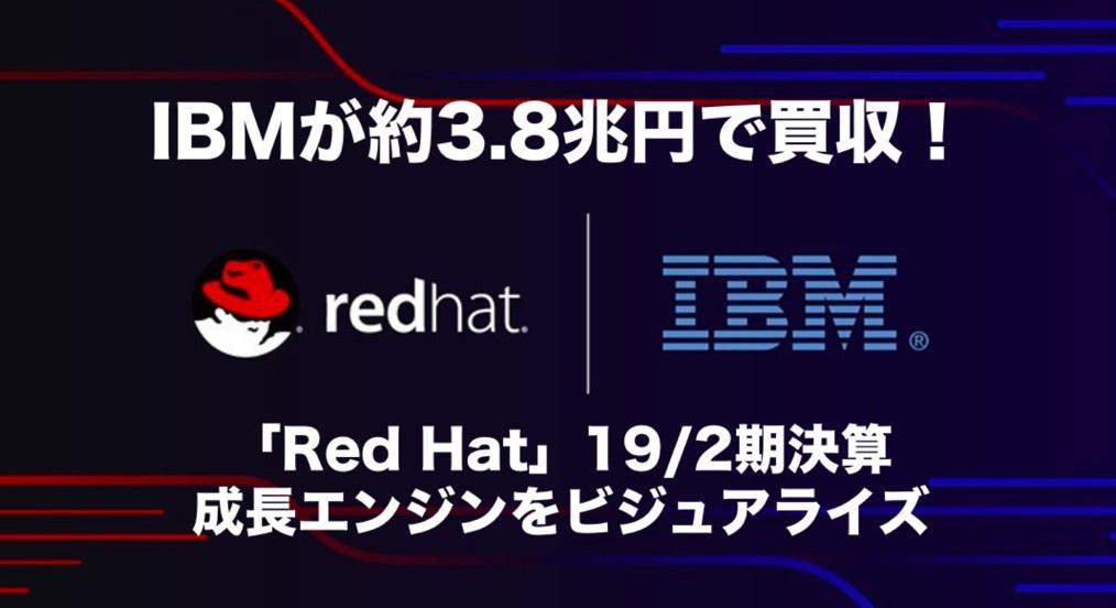 IBMが約3.8兆円で買収!「Red Hat」最新決算をビジュアライズ