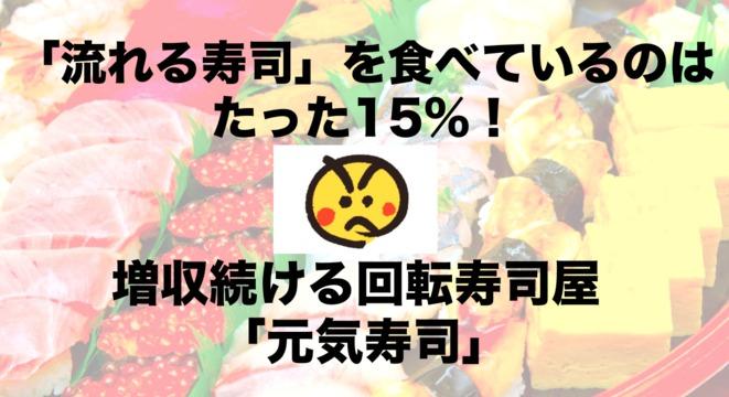 「流れる寿司」を食べているのはたった15%! 増収続ける回転寿司屋「元気寿司」