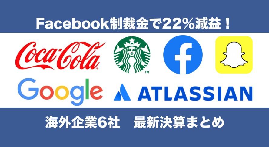 制裁金の影響で22%減益の「Facebook」など!注目の海外決算6社