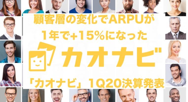 人材管理SaaS「カオナビ」1Q20決算:ARPU上昇が売上+60%増を牽引
