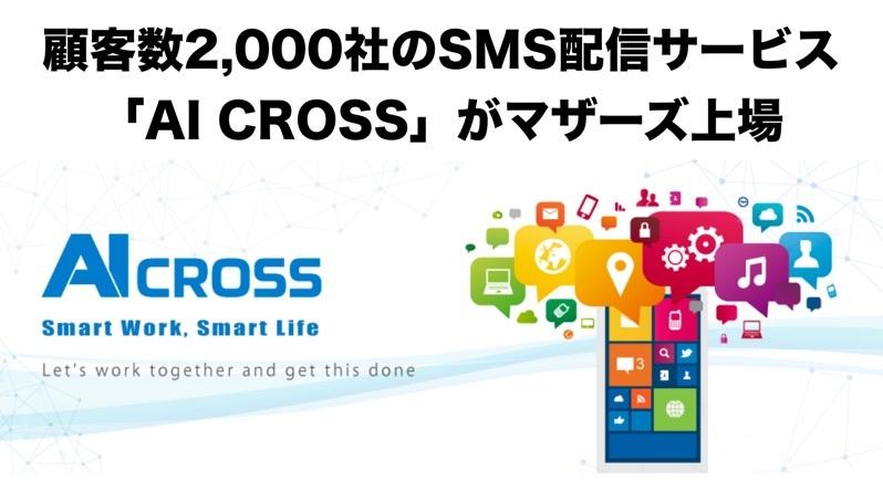 日本版Twilio「AI CROSS」が新規上場!取引企業数2,000社を突破