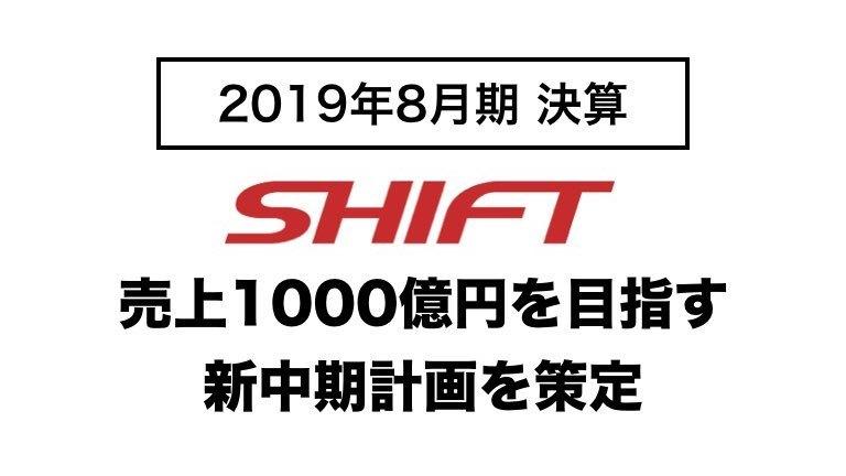 「SHIFT」決算まとめ:売上1,000億円を目指す新中期計画を策定