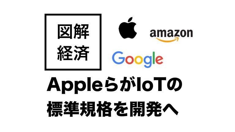 AppleらがIoTの標準規格を開発へ!など注目経済ニュース図解
