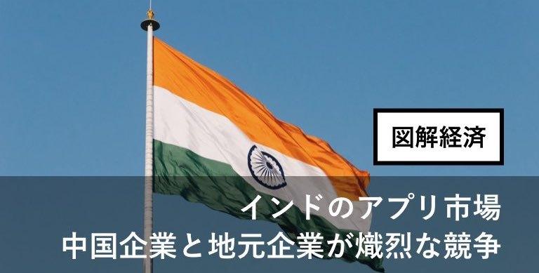インドのアプリ市場で中国とインドが競争!など注目経済ニュース図解