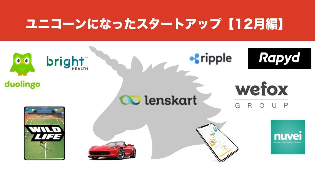 12月にユニコーン企業になった海外スタートアップ10社を一気におさらい!